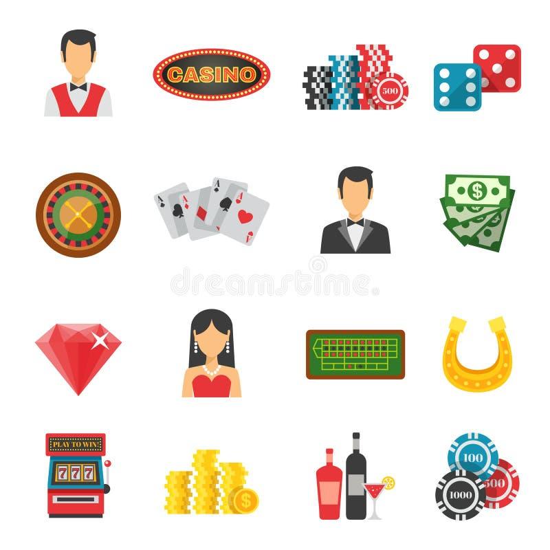 Casino Icons Set Stock Vector Illustration Of Gambling 63380164