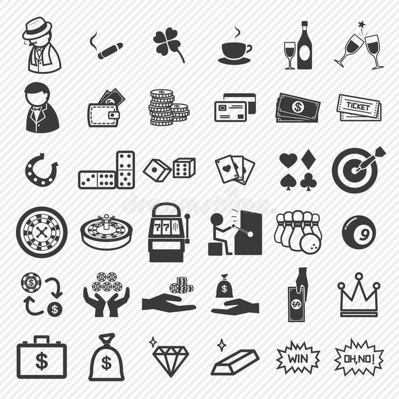 Casino icons set. Illustration eps10 vector illustration