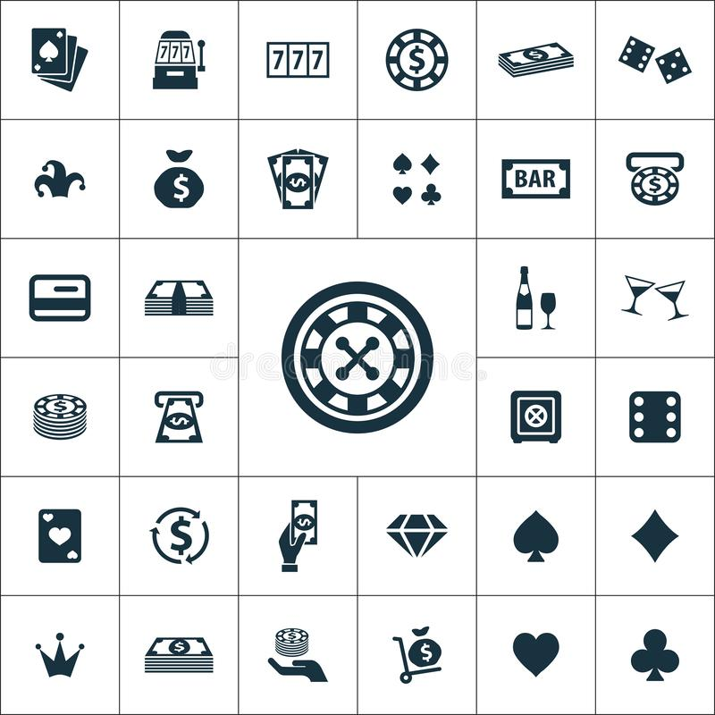 Casino icons universal set for web. And mobile vector illustration