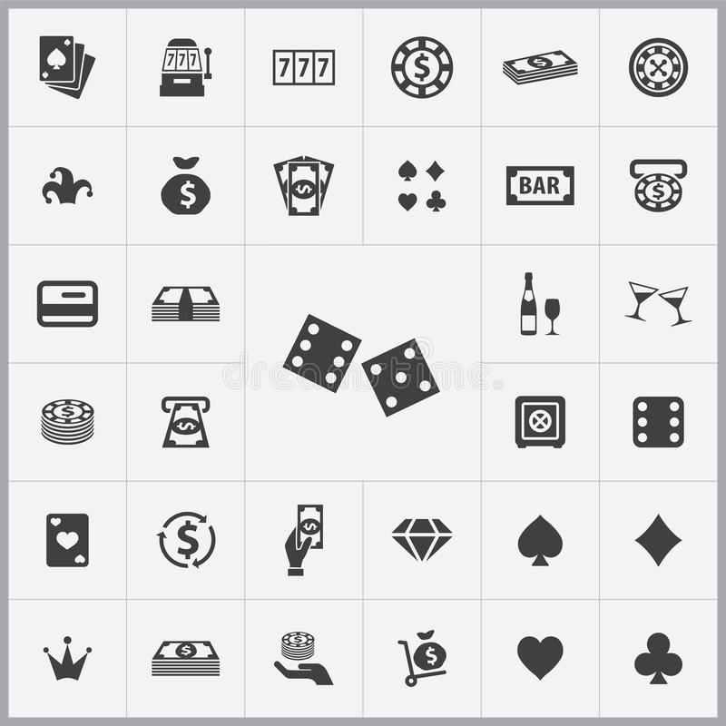 Casino icons universal set. For web and mobile royalty free illustration