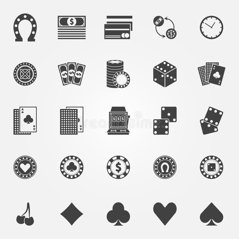 Casino icons vector set royalty free illustration