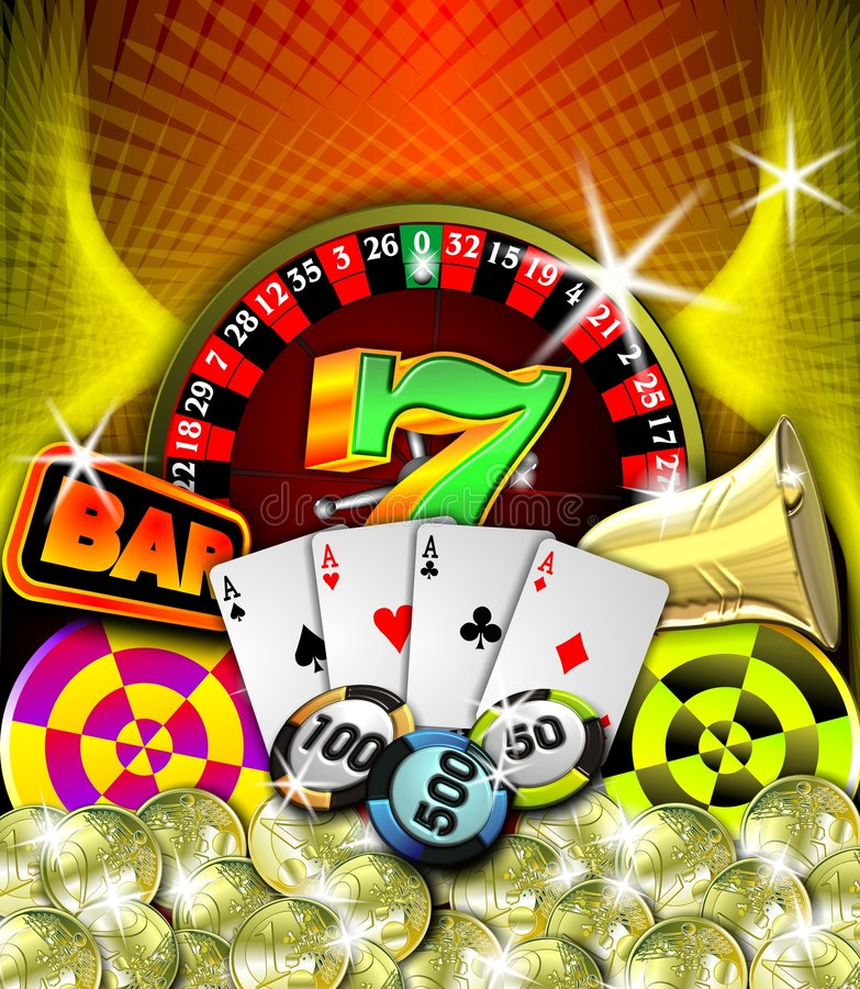 Casino illustration royalty free stock images