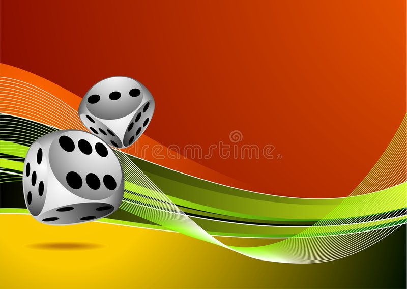 Casino illustration with two dice stock photos