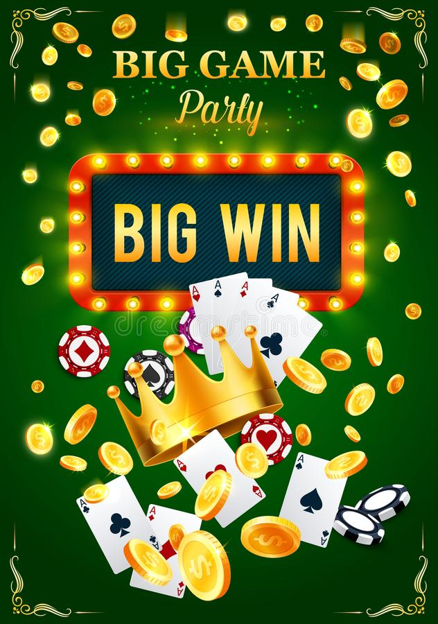 Casino invitation poster for gambling game party vector illustration