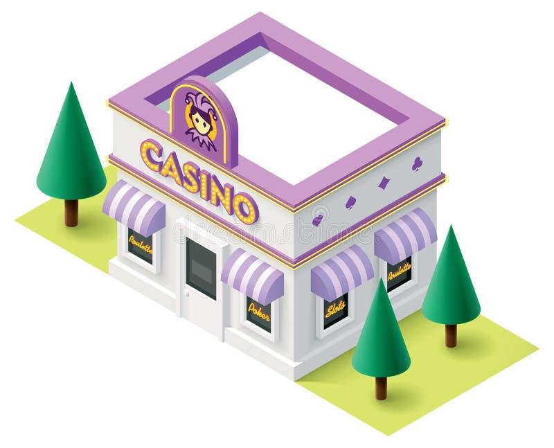 Casino isométrico do vetor ilustração royalty free