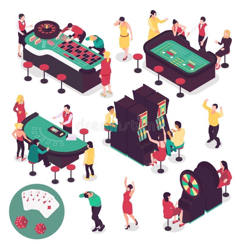 Casino Isometric Set royalty free illustration