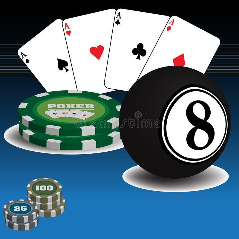 Casino items royalty free stock image