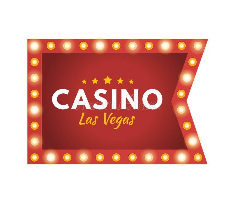 Casino Las Vegas Bote, afortunado, éxito, crecimiento financiero, beneficio del dinero stock de ilustración