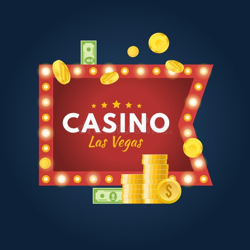 Casino Las Vegas Gelukkige pot, succes, de financiële groei, geldwinst royalty-vrije illustratie