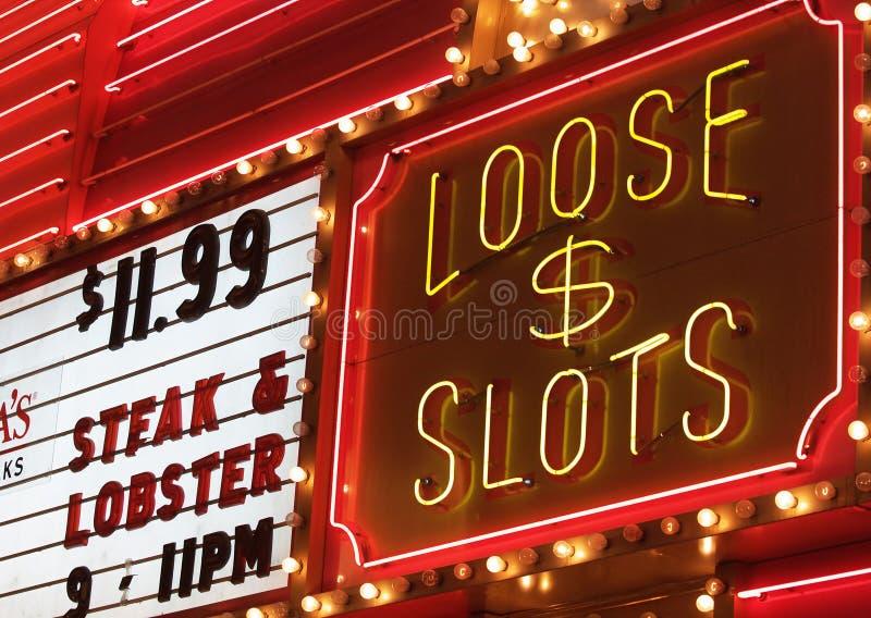 Casino lights stock images