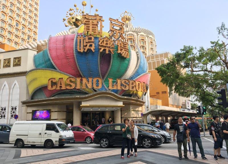 Casino Lisboa, Macau fotos de stock royalty free