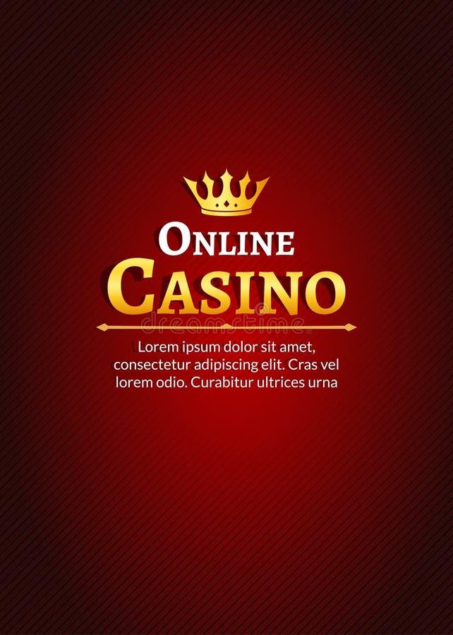Casino logo template poster. Online Casino background design stock illustration
