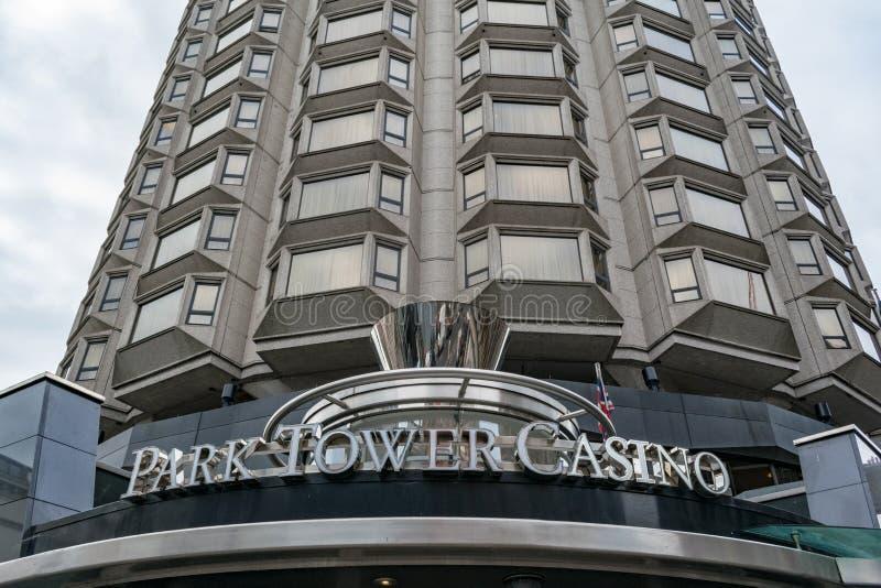 Casino Londres de tour de parc photo stock