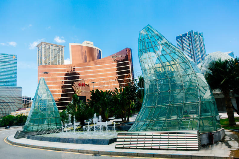 Casino in macau stock photo
