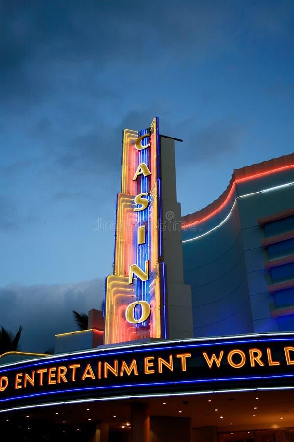 Casino Neon Lights Editorial Photography