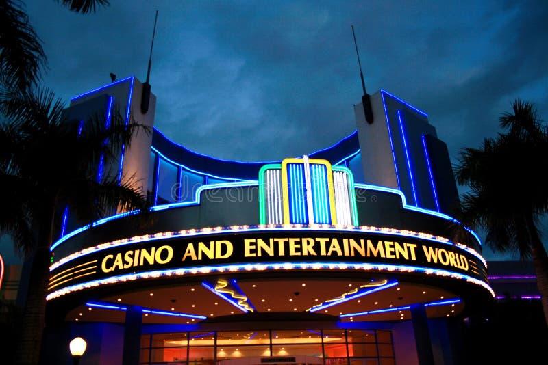Casino neon lights stock images