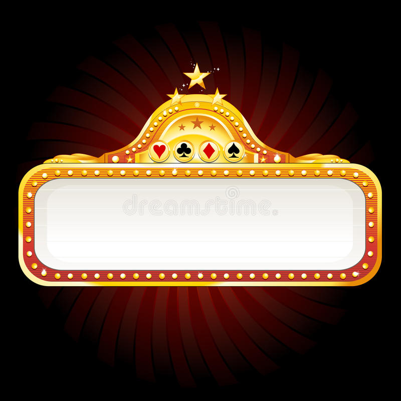 Casino neon sign stock illustration