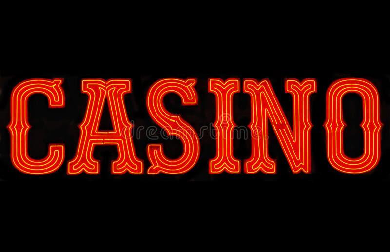Casino Neon Sign stock image