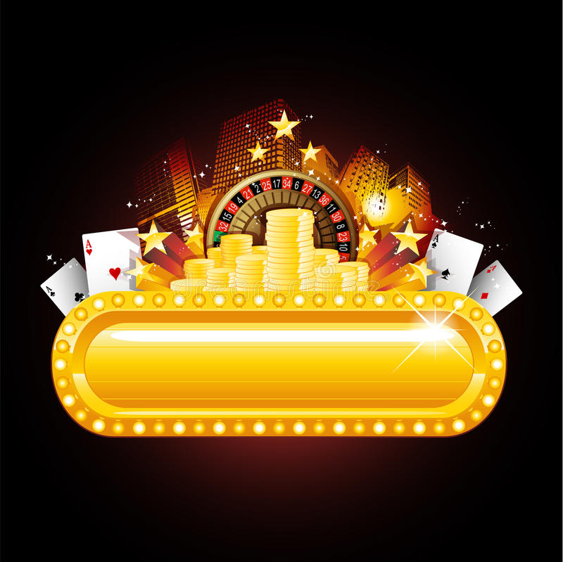 Download Casino neon sign stock vector. Illustration of gold, roulette - 19157942