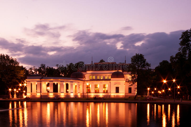 Casino op het meer royalty-vrije stock foto
