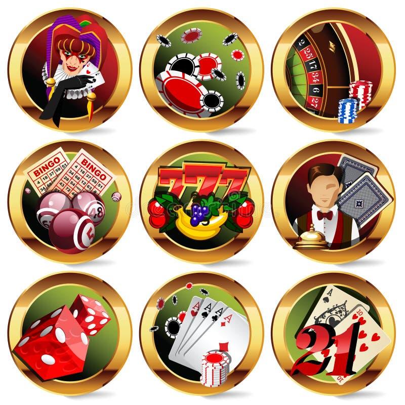 casino ou graphismes de jeu réglés illustration stock