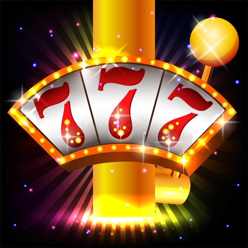 Casino Party Vector. Win big! Casino vector illustration design slots and roulette stock illustration