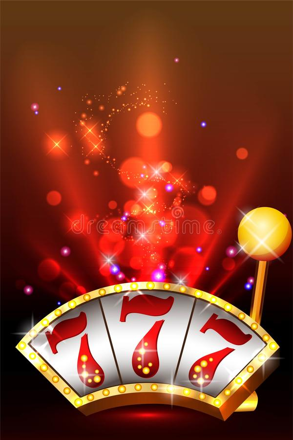 Casino Party Vector. Win big! stock illustration