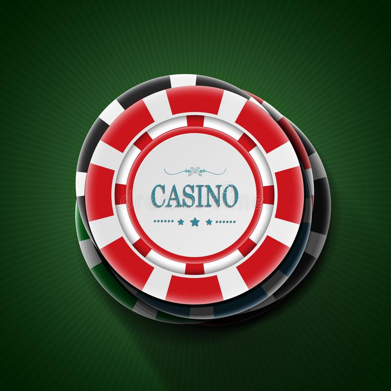 Casino playing chip in stack. top view. Illustration of Casino playing chip in stack. top view royalty free illustration