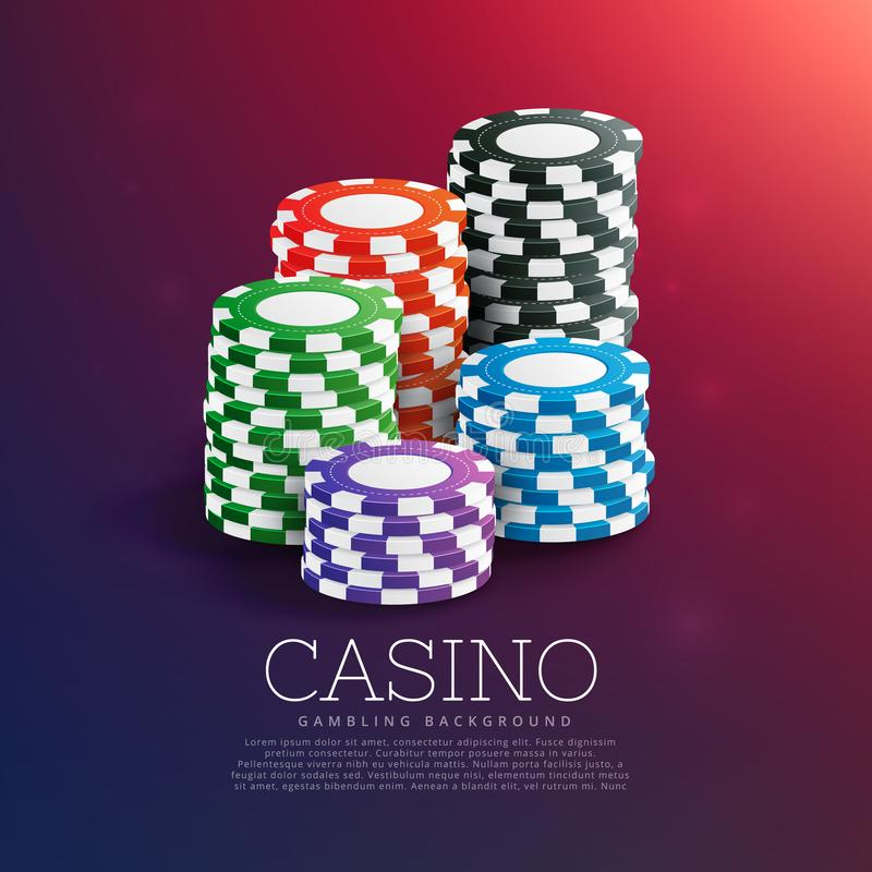 Casino playing chips in stack. Vector vector illustration