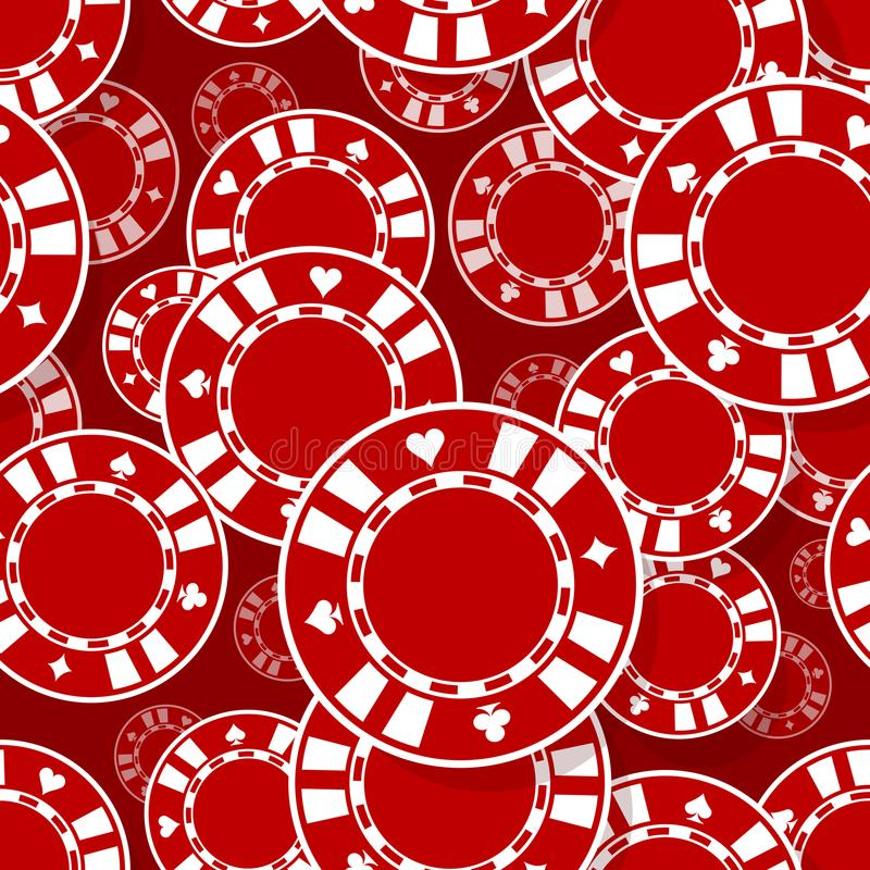 Casino poker chips icon seamless pattern. Digital printable vector illustration. Ideal for wallpaper, covers, wrapper, packaging, textile, fabric and any print royalty free illustration