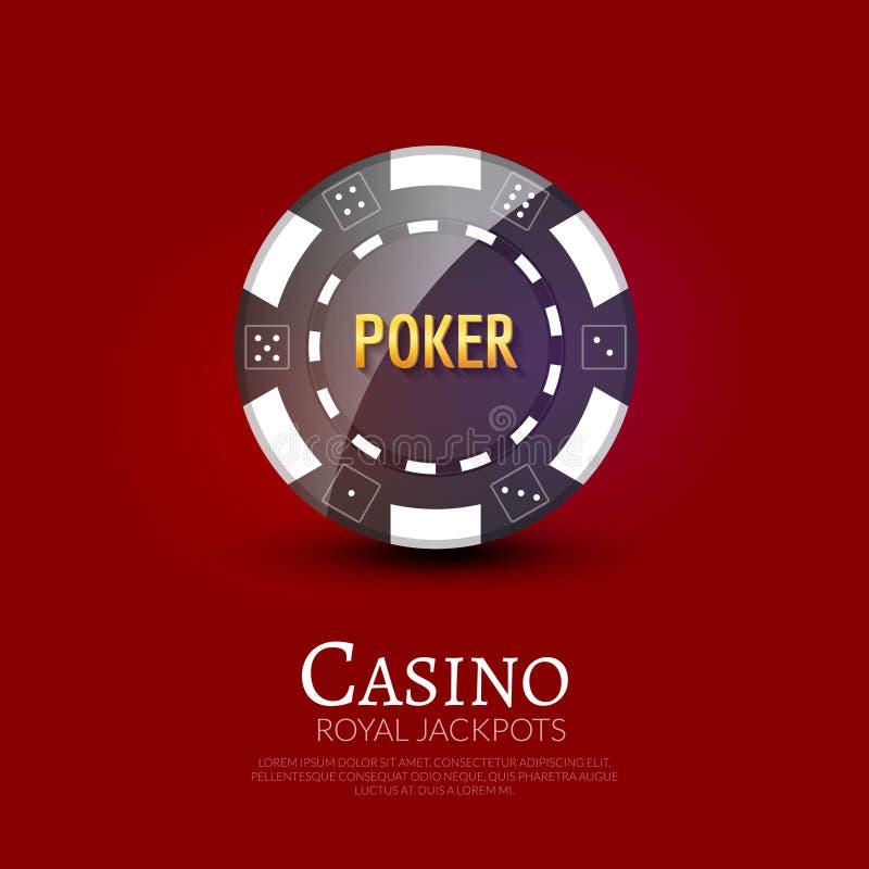 Casino poker ship poster design template. Poker chip design vector illustration.  vector illustration