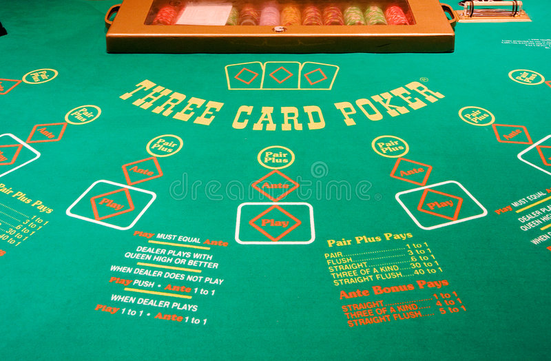 Casino Poker Table stock photos