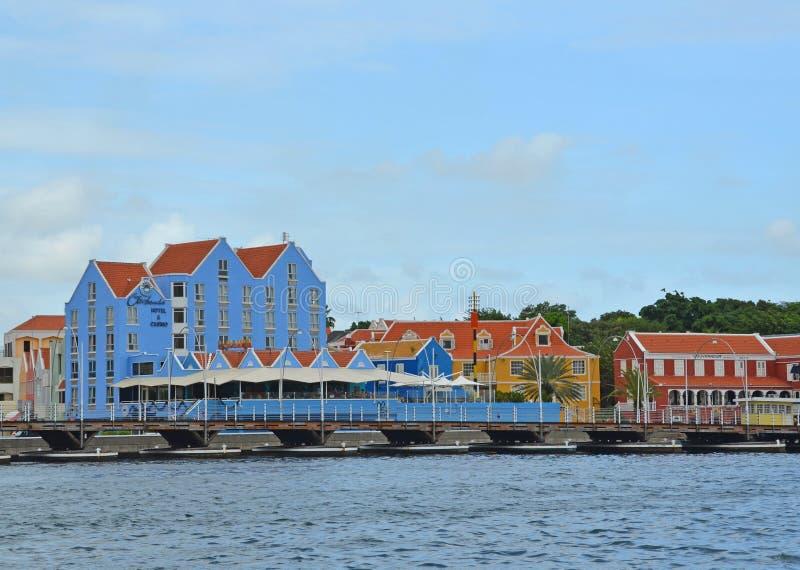 Casino que construye Willemstad, Curaçao fotos de archivo