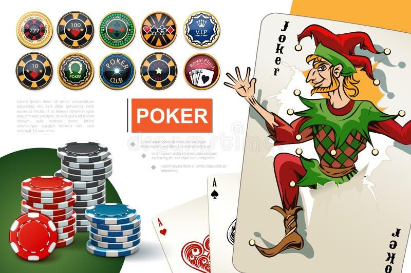 Casino realístico e conceito de jogo ilustração royalty free
