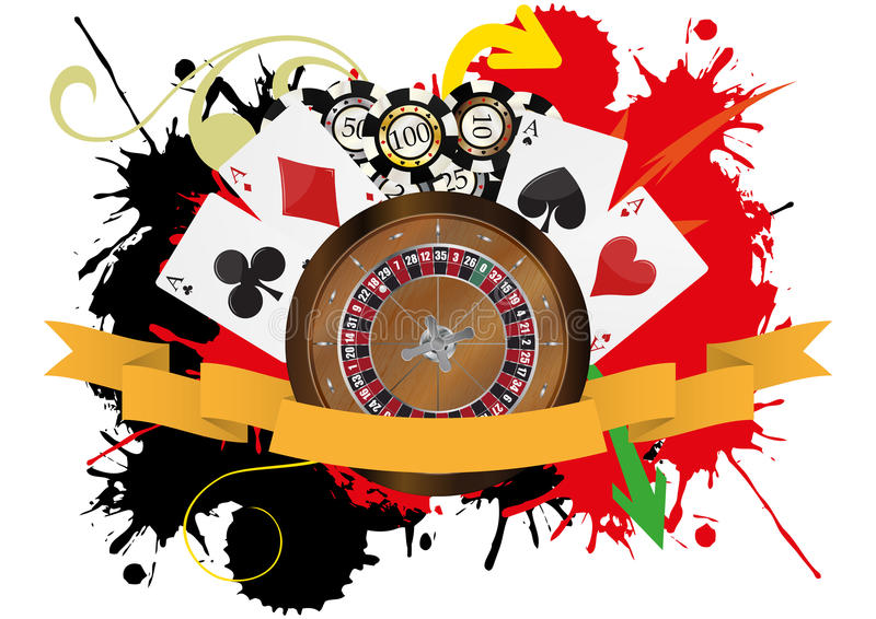 Download Casino ribbon stock vector. Image of leisure, blank, celebration - 28297818