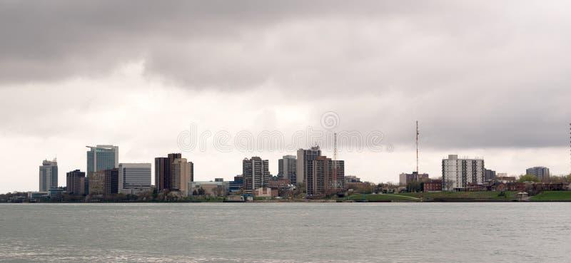 Casino Rivière Détroit de Windsor Canada Downtown City Skyline photographie stock libre de droits
