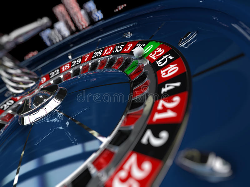 Casino, roue de roulette illustration stock