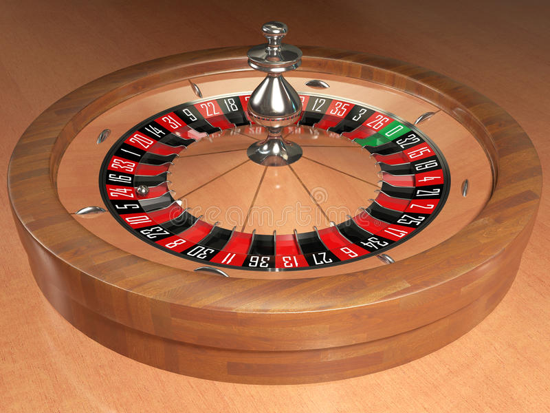 Casino roulette. Casino electronic roulette 3d render royalty free illustration