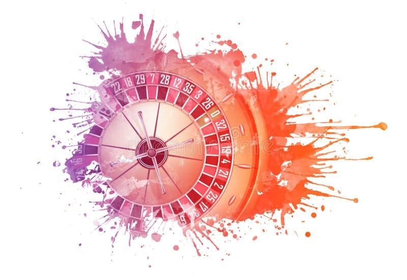 Casino Roulette royalty free illustration