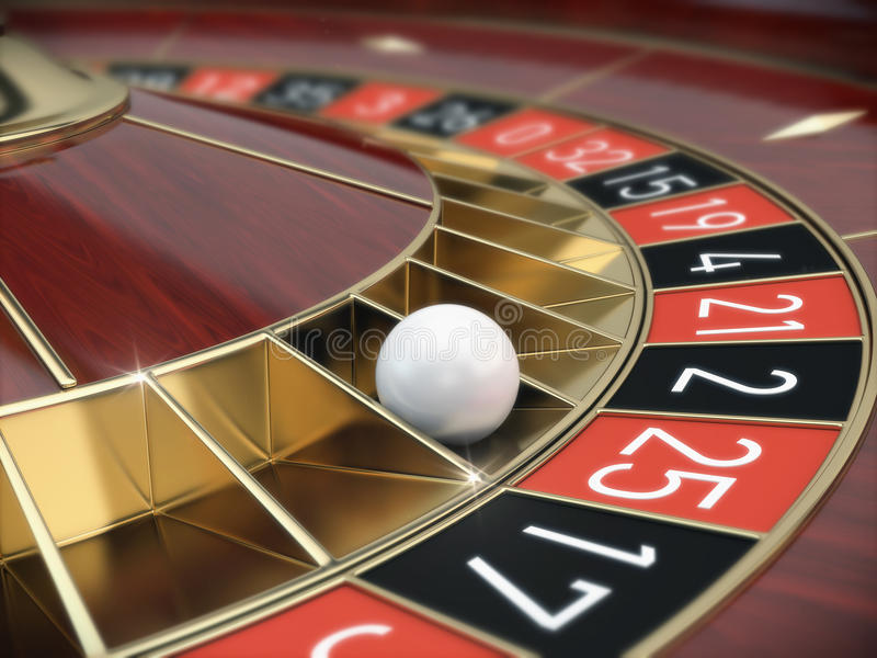 Casino Roulette. Wheel - 3d render royalty free illustration