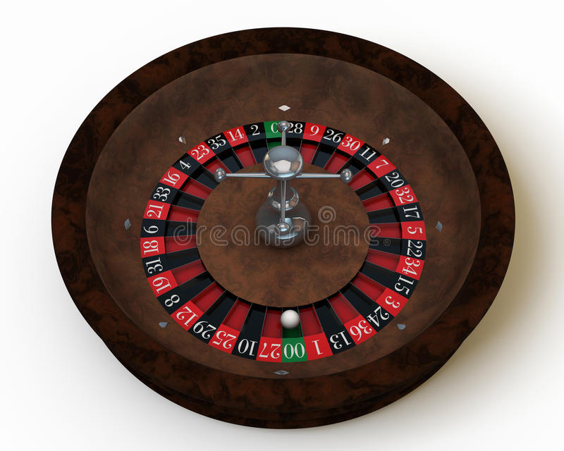 Casino roulette. On white table royalty free illustration