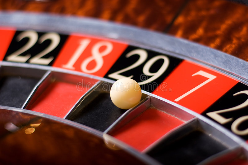 Casino roulette, 29 wins royalty free stock image
