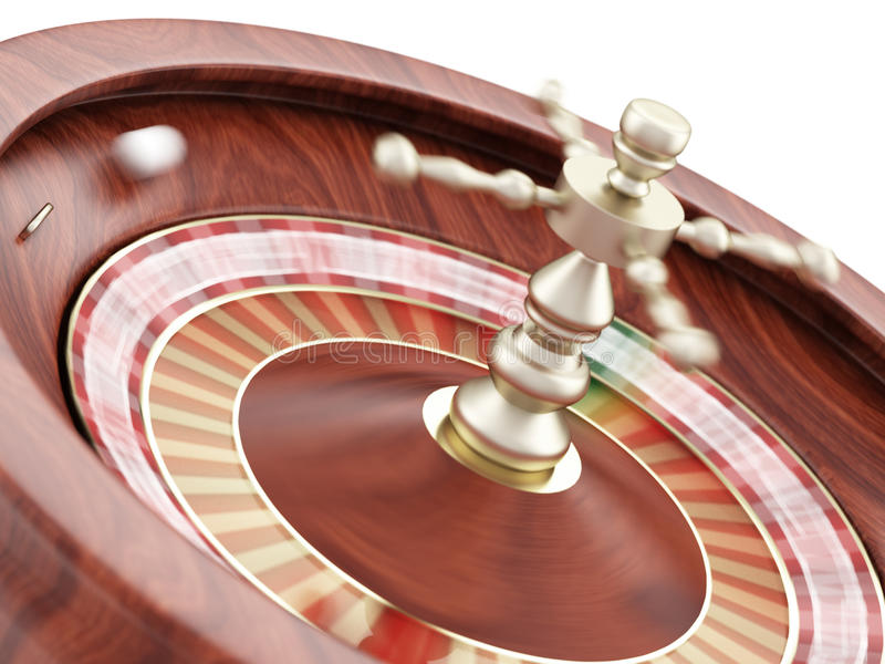 Casino Roulette. On a white background royalty free illustration