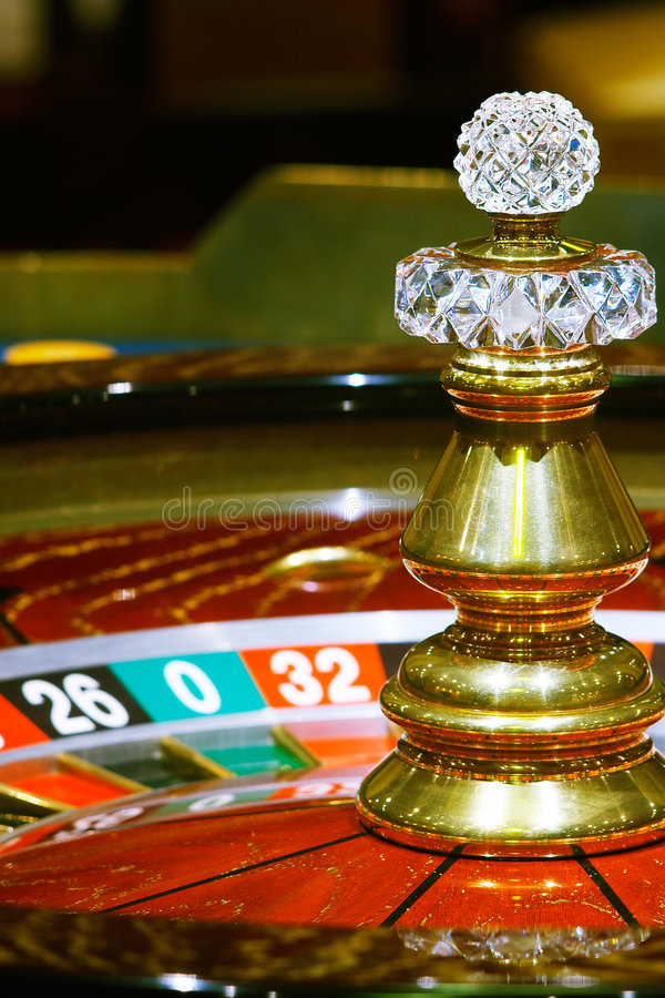 Casino, roulette. Close up view of the roulette stock images