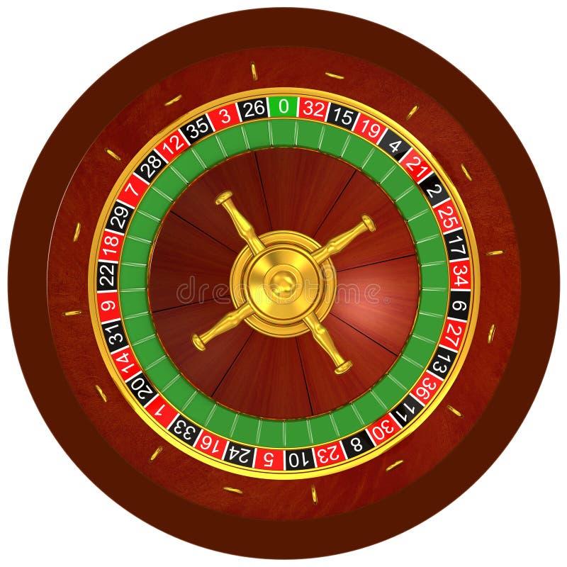 Casino, roulette. Roulette, casino on white background stock illustration