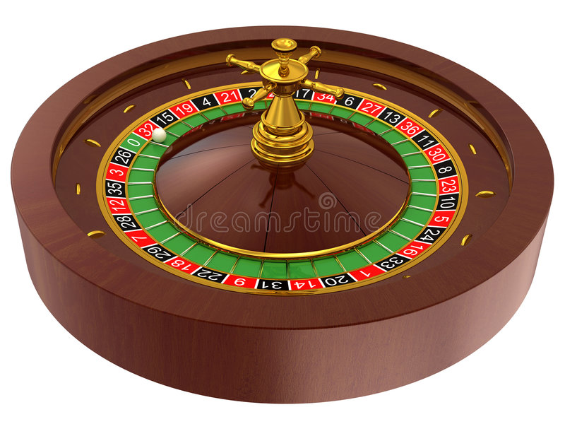 Casino, roulette. Roulette, casino on white background royalty free illustration