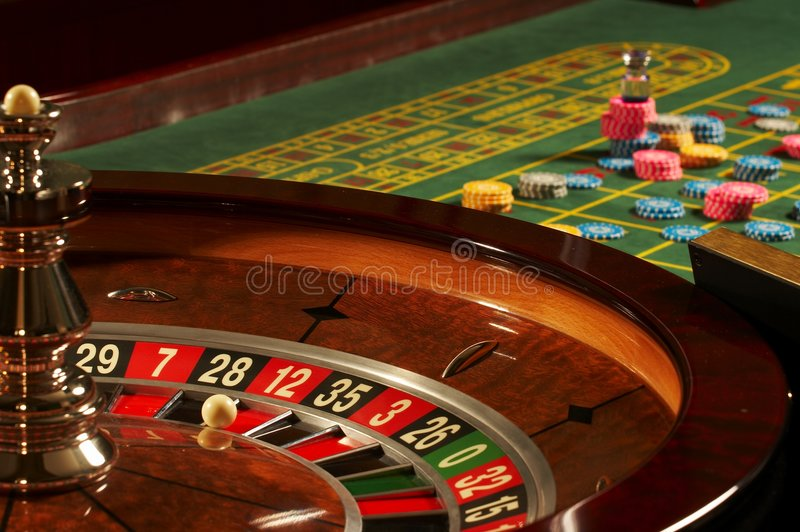 Casino Roulette. 0 And 21 stock photos