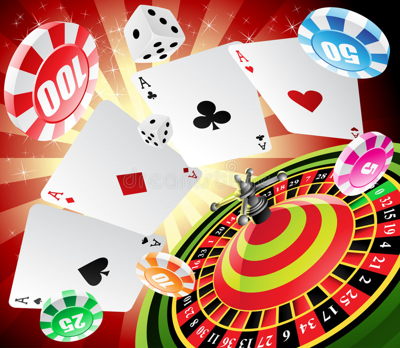 Download Casino and roulette stock vector. Image of cards, background - 9253901