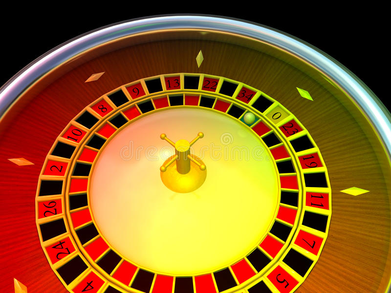 Casino Roulette. Rendered in 3D stock illustration