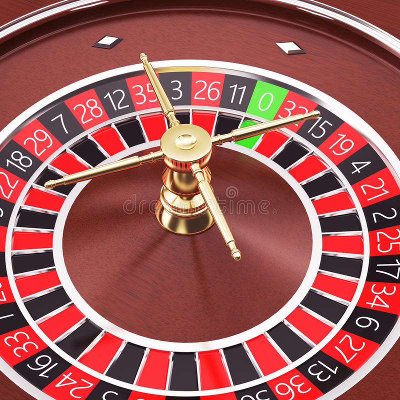 Casino roulette close up. 3d render illustration in high resolution vector illustration